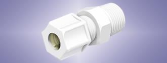 Kynar Compression Fitting Male Pipe Thread M-NPT