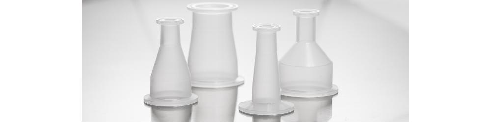 plastic tri-clamp sanitary reducer polypropylene and kynar pvdf